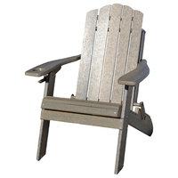 Folding Adirondack Chair, Country Classic Style, Barn Board
