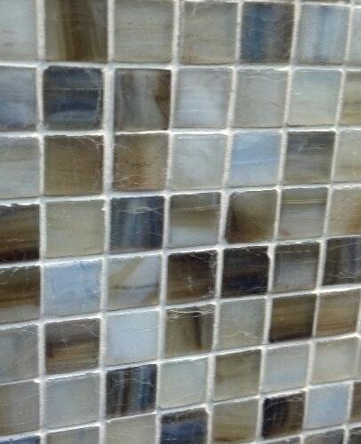 Viahara glass tile mosaic in Jade/Silk - Mosaic Tile