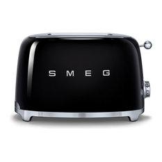 Smeg 50's Retro Style Two Slice Toaster, Black