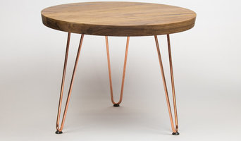 Walnut & Brass Side Table
