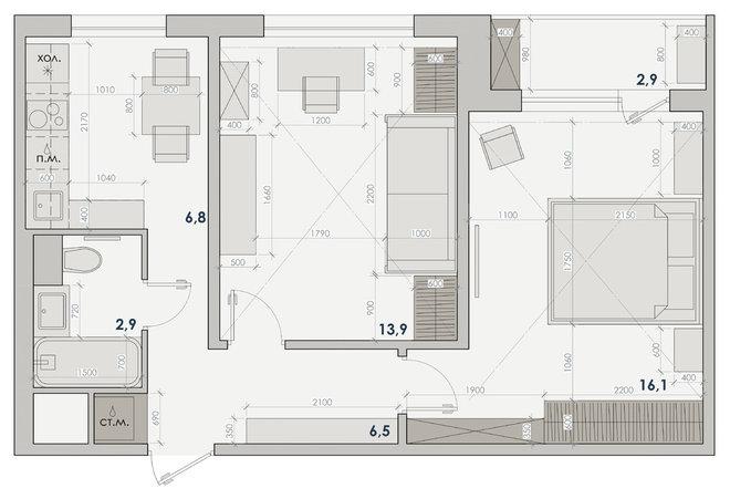 Современная классика План этажа by Наталья Широкорад