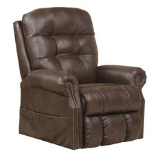 Catnapper Ramsey Power Lift Lay Flat Recliner With Heat and Massage, Sable