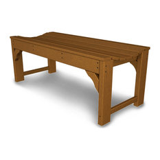 """Polywood Traditional Garden 48"""" Backless Bench, Teak"""