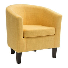 Atlin Designs Fabric Tub Chair in Yellow