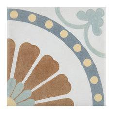 "SomerTile Revival Mini 4"" x 4"" Ceramic Floor and Wall Tile, Multi"