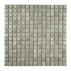 "12.38""x12.38"" Frontier Porcelain Mosaic Floor/Wall Tile, Gray"