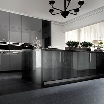 Luxury Dark Black Modern Kitchen By Darash Collection