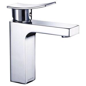 Modern 1 Hole Bathroom Faucet Vanity Sink Wash Basin Single Handle Kitchen, Chro