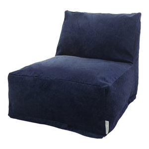 Majestic Home Goods Villa Navy Bean Bag Chair Lounger