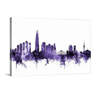 Quot Seoul Skyline South Korea Quot Black Framed Art Print