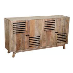 Crestview 38-inch Wood 4 Door Sideboard CVFNR848