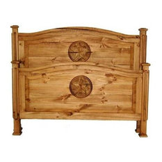 Million Dollar Rustic - Budget Bed With Star, King - Panel Beds