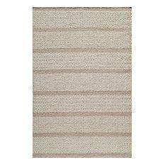 Mesa Hand-Woven Reversible Flatweave Rug, Beige, 8'x10'