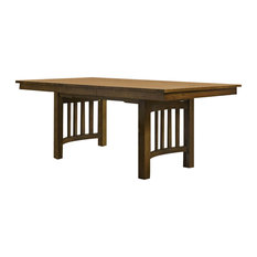 "A-America Laurelhurst 92"" Rectangular Trestle Table, Rustic Oak"