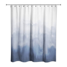 Blue Watercolor 71x74 Shower Curtain
