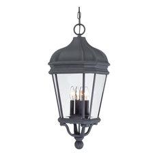 The Great Outdoors GO 8694 4 Light Lantern Pendant - Black