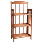 Lavish Home - 3-Shelf Bookcase with Cedar Finish by Lavish Home - This 3 Shelf Bookcase by Lavish Home will bring rustic charm to any home.