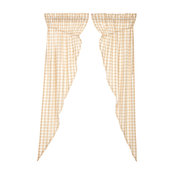 Annie Buffalo Tan Check Prairie Long Panel Set of 2 84x36x18