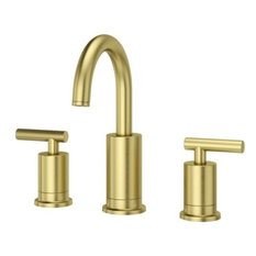 Pfister LG49-NC1 Contempra Double Handle Lavatory Faucet, Brushed Gold