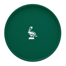 """Kasualware 14"""" Round Serving Tray Green Pelican"""