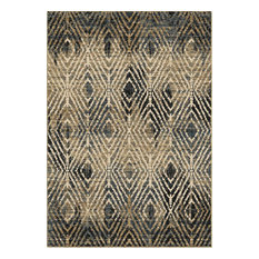 "Tribal Throne Rug, Off White, 5'1""x7'6"""