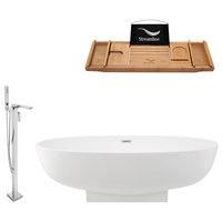 "Streamline Tub Set  67"" Freestanding With H-140-TFMSHCH Faucet"