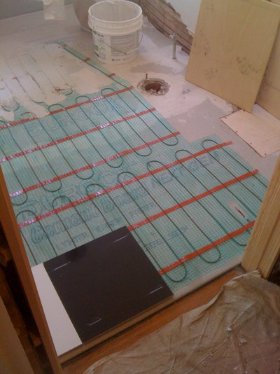 installing heated floor in bathroom warm up your bathroom with heated floors 23553
