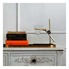 Ricole Bloomingville Coffee Drip Stand in Gold and Glass