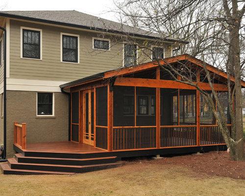 Craftsman screen porch in candler park for Craftsman screened porch