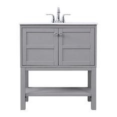 30-inch Single Bathroom Vanity Set Gray