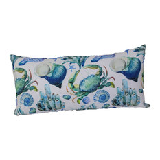 Lava - Lava Pillows Under Blue, 12 quot;x24 quot; Indoor Outdoor Throw Pillow - Outdoor Cushions And