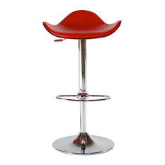 Barstools, Set of 2, Red