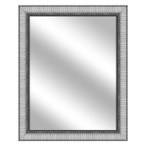 Over the sink Vanity Mirror, Stainless Silver, 26.375x32.375