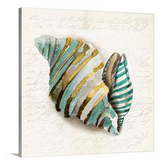 """Blue Coral II"" Wrapped Canvas Art Print, 30""x30""x1.5"""