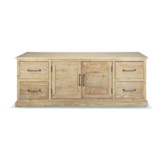 Stamford Rustic Wood Media Console