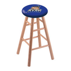 Oak Bar Stool Natural Finish With Grand Valley State Seat 30-inch