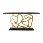 Ambella Home Collection Sculpted Console, Gold