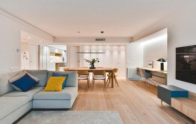 Casas Houzz: Sostenibilidad y confort en un piso para una familia