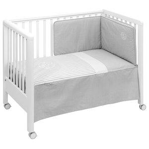 Alejandro 2-Piece Cot Bedding Set, 60x120 cm, Grey