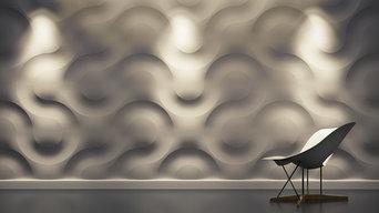 3D Wandpaneele aus Gips - exklusive Wandgestaltung