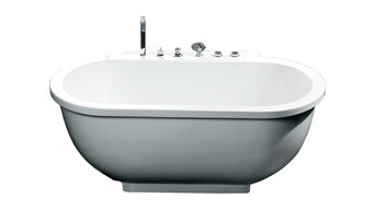 Ariel Platinum AM128 Whirlpool Bathtub 71x37.4x27.5