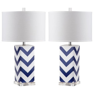 Safavieh Sebastian Table Lamps, Set of 2, Navy
