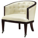 Bristol tufted wing belgian linen sofa traditional for Ava nailhead chaise