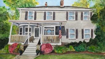 Watercolor Custom House Portraits