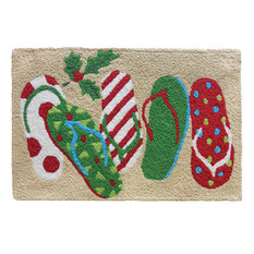 Christmas Sandals Holiday Decor Indoor Outdoor Accent Rug