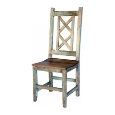 Burleson Home Furnishings   Rustic Cabana Chair, Multicolor   Dining Chairs