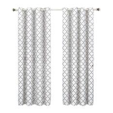 """Meridian Room Darkening Grommet Panels, 2PC, White, 104""""x96"""""""