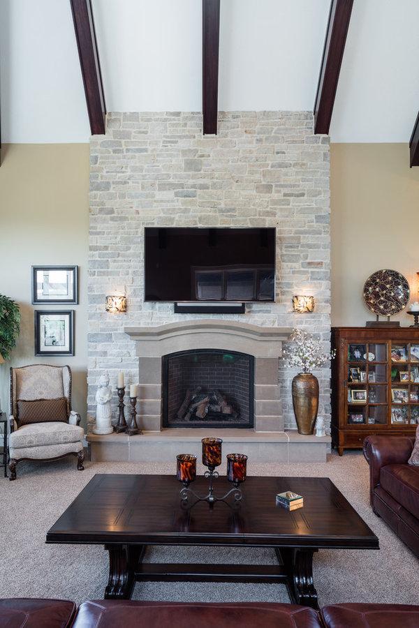 Custom designed & built fireplace mantels