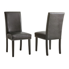 Verano Black Side Chairs Set Of 2 Dark Brown/Chrome