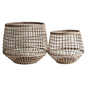 Okanda Rattan Storage Baskets, Set of 2